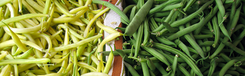 Beans : Yellow Wax, Green & Roma